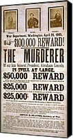 Politics Photo Canvas Prints - Wanted Poster For The Assassins Canvas Print by Everett
