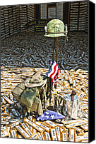 Veteran Canvas Prints - War Dogs Sacrifice Canvas Print by Carolyn Marshall