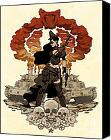 Comic Canvas Prints - War Maiden Canvas Print by Brian Kesinger