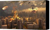 Judgment Day Canvas Prints - War Of The Worlds Canvas Print by Mark Stevenson