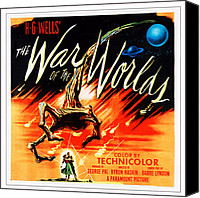 1953 Movies Canvas Prints - War Of The Worlds, Poster Art, 1953 Canvas Print by Everett