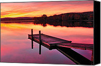 Docks Photo Canvas Prints - Waramaug Sunset Canvas Print by Thomas Schoeller