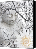 Buddha Art Canvas Prints - Warm Winters Moment Canvas Print by Christopher Beikmann