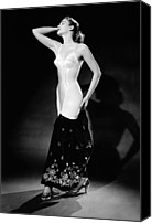 1950s Fashion Canvas Prints - Warner Corset Provided Full Body Canvas Print by Everett