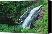 Michigan Waterfalls Canvas Prints - Warner Falls Canvas Print by Michael Peychich