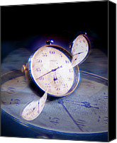 Contraction Canvas Prints - Warped Time, Conceptual Image Canvas Print by Richard Kail