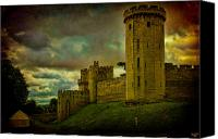 Tent Digital Art Canvas Prints - Warwick Castle Canvas Print by Chris Lord
