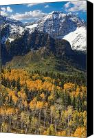 Evergreens Canvas Prints - Wasatch Mountains Autumn Canvas Print by Utah Images