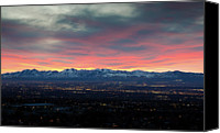 Salt Lake Canvas Prints - Wasatch Sunset Canvas Print by Photo by Jim Boud
