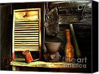 Julie Dant Artography Photo Canvas Prints - Washboard Still Life Canvas Print by Julie Dant