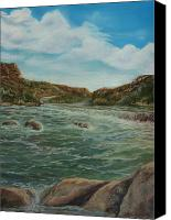 Scenic Pastels Canvas Prints - Washed Out Canvas Print by Tracey Hunnewell