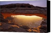 Mesa Arch Canvas Prints - Washer Woman Arch Seen Through Mesa Canvas Print by Natural Selection Robert Cable