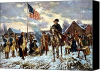 President Painting Canvas Prints - Washington at Valley Forge Canvas Print by War Is Hell Store
