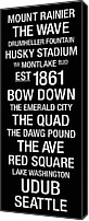 New York Signs Canvas Prints - Washington College Town Wall Art Canvas Print by Replay Photos
