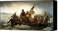 President Painting Canvas Prints - Washington Crossing The Delaware Canvas Print by War Is Hell Store