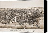 Cities Photo Canvas Prints - Washington D.c., 1892 Canvas Print by Granger