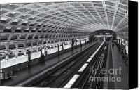 Subway Station Photo Canvas Prints - Washington DC Metro Station I Canvas Print by Clarence Holmes