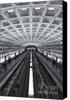 Subway Station Photo Canvas Prints - Washington DC Metro Station II Canvas Print by Clarence Holmes
