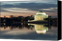 Thomas Jefferson Canvas Prints - Washington DC Thomas Jefferson Monument Canvas Print by Mark VanDyke