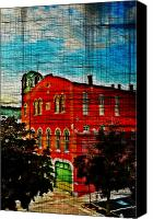 Conshohocken Pa Canvas Prints - Washington Fire Company - Conshohocken Pa. Canvas Print by Bill Cannon
