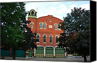 Conshohocken Pa Canvas Prints - Washington Firehouse - Conshohocken Pa Canvas Print by Bill Cannon