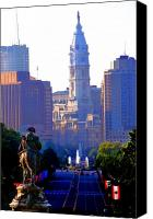 Parkway Canvas Prints - Washington Looking Over to City Hall Canvas Print by Bill Cannon