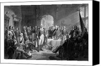 Founding Father Drawings Canvas Prints - Washington Meeting His Generals Canvas Print by War Is Hell Store