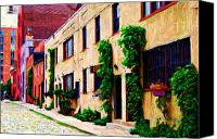 Townhomes Canvas Prints - Washington Mews Sketch Too Canvas Print by Randy Aveille