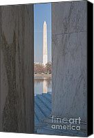 D.c. Canvas Prints - Washington Monument from Jefferson Memorial I Canvas Print by Clarence Holmes