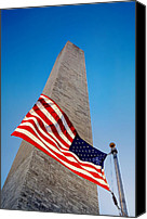 4th Of July Canvas Prints - Washington Monument Canvas Print by Ilker Goksen
