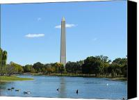   Canvas Prints - Washington Monument in Summer Canvas Print by    
