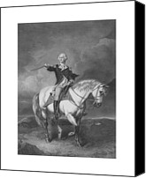 Founding Father Canvas Prints - Washington Receiving A Salute At Trenton Canvas Print by War Is Hell Store