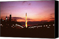 Us Capital Mixed Media Canvas Prints - Washington Shining - Night DC Canvas Print by Peter Art Prints Posters Gallery