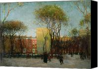 Washington Square Canvas Prints - Washington Square New york Canvas Print by Paul Cornoyer