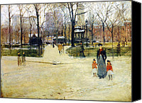 Childs Canvas Prints - Washington Square Park Canvas Print by Stefan Kuhn