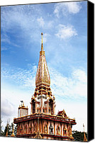 Thailand Canvas Prints - Wat Chalong 6 Canvas Print by Metro DC Photography