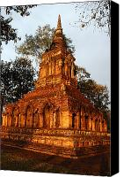 Sat Canvas Prints - Wat Pa Sat, A 14th C. Temple Canvas Print by Anne Keiser
