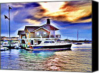 Yachts Digital Art Canvas Prints - Watch Hill Canvas Print by Stephen Younts