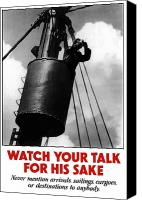 Talk Canvas Prints - Watch Your Talk For His Sake  Canvas Print by War Is Hell Store