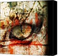 Zombie Digital Art Canvas Prints - Watcher Canvas Print by Ken Walker