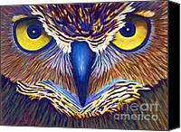 Bird Of Prey Canvas Prints - Watching Canvas Print by Brian  Commerford