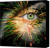 Pyrotechnics Canvas Prints - Watching Fireworks Canvas Print by Semmick Photo