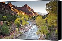 Virgin Canvas Prints - Watchman In Zion National Park Canvas Print by Photo By Daryl L. Hunter - The Hole Picture