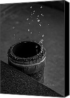 Strange Photo Canvas Prints - Water Dripping Up The Spout Canvas Print by Bob Orsillo