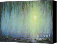 Jerome Stumphauzer Canvas Prints - Water Lilies At Sunrise Canvas Print by Jerome Stumphauzer