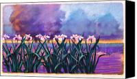 Pond Pastels Canvas Prints - Water Lilies In Pond Canvas Print by Valerian Ruppert