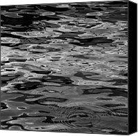 Joseph Duba Canvas Prints - Water Reflections  Aug 2010 SQ Canvas Print by Joseph Duba