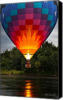 Androscoggin River Canvas Prints - Water Scrapping Hot Air Balloons Canvas Print by Bob Orsillo