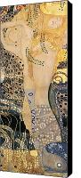 Friends Canvas Prints - Water Serpents I Canvas Print by Gustav klimt