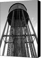 Montana Digital Art Canvas Prints - Water Tower 1 - West Yellowstone Canvas Print by Steve Ohlsen